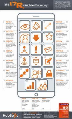Las 17 Rs del marketing móvil #infografia #infographic #marketing   TICs y Formación