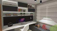 Home office moderno em tons de preto e branco. #homeoffice #escritorio #office #preto #branco