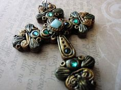 Sculpted Polymer Clay Cross (no molds)