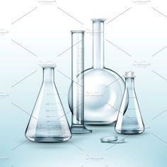 Glass chemical laboratory flasks. Chemistry #beaker #laboratory