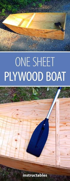Woodworking Tips One Sheet Plywood Boat Easy Woodworking Ideas, Woodworking Projects That Sell, Popular Woodworking, Woodworking Jigs, Woodworking Furniture, Woodworking Basics, Furniture Ideas, Plywood Projects, Easy Wood Projects