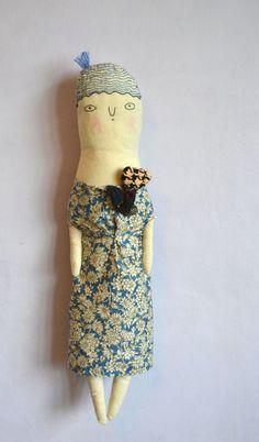 Nella  a Large Cloth art doll von melodiestacey auf Etsy