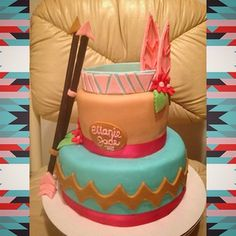 Pocahontas' cake. How cute!