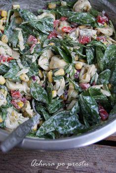 Tortellini, Vegetarian Recipes, Cooking Recipes, Healthy Recipes, Leafy Salad, Spinach Salad, Pasta Salad, Italian Recipes, Easy Meals