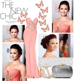 """The Best Red Carpet Dresses ~ Demi Lovato"" by softlittlefashion ❤ liked on Polyvore"