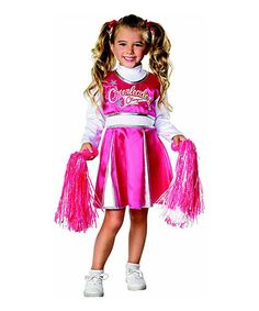 Take a look at this Pink & White Cheerleader Dress-Up Set - Toddler & Girls by Rubie's on #zulily today!