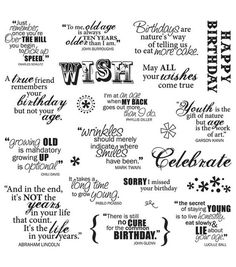 Fiskars - Clear Acrylic Stamps - 8 x 8 - Make A Wish Quotes Birthday Sentiments, Card Sentiments, Birthday Verses, Birthday Quotes, Birthday Card Sayings, Scrapbook Quotes, Scrapbook Titles, Scrapbooking Layouts, Baby Scrapbook
