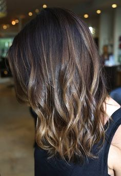 Pretty brunette ombré