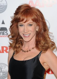 Kathy Griffin Long Curls - Kathy Griffin wore her hair in big bouncy curls with soft wispy bangs at the 11th Annual Movies for Grownups awards gala.