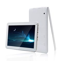 Annpadar(TM) Ultrathin 10″ 10.1″ 1024 x 600 Google Android 4.4 Tablet PC 8GB ROM 1GB RAM Quad Core CPU Multi Capacitive Touch (Support 10 points) SGX544MP2 OpenGL ES2.0 Open CL1.x,DX9_3 Patterning System Dual Camera Built-In Wifi Bluetooth HDMI TF/Micro USB Card Slot Hands-Free Mic 3.5mm Audio Jack [New Upgraded Model July 2014]