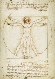 Leonardo da Vinci-Vitruvian man(proportion drawing)