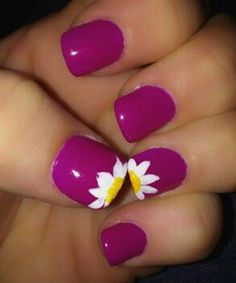 Cute flowers nail design. See more at http://www.naildesignsforyou.com #nails #art #nailart #flowers