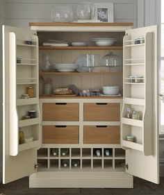 If you need more room for keeping food or crockery, a gorgeous larder unit is the ideal solution. Find more storage ideas at housebeautiful.co.uk