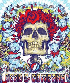 Dead & Company Hartford Poster by Zeb Love Grateful Dead Tattoo, Grateful Dead Image, Grateful Dead Poster, Grateful Dead Bears, Screen Print Poster, Poster Prints, Beatles Poster, Dead And Company, Love Posters