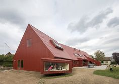 Danish youth center....different take on the red barn....