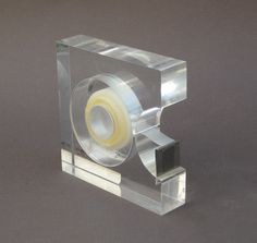 Modern Lucite Tape Dispenser - MOMA Design Study Collection - Two's Company.  via Etsy. (OH MY...!!)