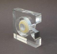 lucite tape dispenser