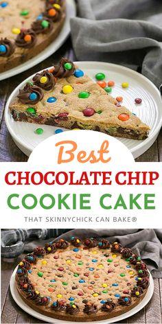 M&m Cookie Cake Recipe, Cake Cookies, Cookies Et Biscuits, Cupcakes, Cookie Pie, Easy No Bake Desserts, Homemade Desserts, Kid Desserts, Baking Recipes