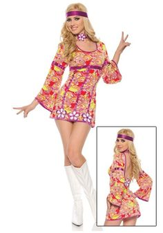 They're going to want this free love hippie costume back… 70s Outfits, Dance Outfits, Boho Outfits, Hippie Chic, Hippie Style, 70s Party Outfit, Home Halloween Costumes, Abba Costumes, Decades Costumes
