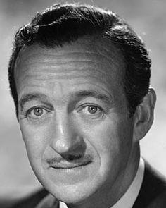 Born James David Graham Niven on March 1,  1910 in Kirriemuir, Scotland, United Kingdom.  Died July 29, 1983 of Lou Gehrig's disease in Chateau D'Oex, Switzerland