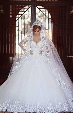 White/Ivory Lace Appliqued Off Shoulder Wedding Dress Bridal Gown Custom Size
