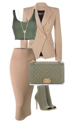 Featuring Balmain, Roque, Doublju, Chanel, Gianvito Rossi and EF Collection Fashion Killa, Look Fashion, Fashion Outfits, Womens Fashion, Fashion Trends, Classy Outfits, Stylish Outfits, Moda Outfits, Work Attire
