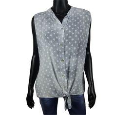 Mouwloze knoop blouse met sterren print in grijs  20-  #Beverwijk #Heemskerk #IJmuiden #Velsen #happy #fashion #follow #cute #followme #like #instacool #nofilter #style #sweet #fashionable #hot  #webshop #fashioncheque #vvv #nieuwecollecties