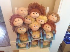LARGE lot of Vintage The Original Doll Baby Heads Cabbage Patch Style | eBay