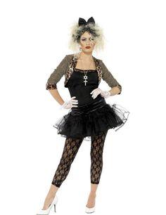 80er Jahre Punk Damenkostüm schwarz-braun, aus unserer Kategorie 80er Jahre Kostüme. Dieses 80er Outfit erinnert nicht zufällig an die wohl größte Stilikone des schrillen Jahrzehnts. Der Tüllrock und die Leggings machen den rockigen 80s Look einfach perfekt. In diesem Kostüm werden Sie zum Mittelpunkt jeder 80er Party.