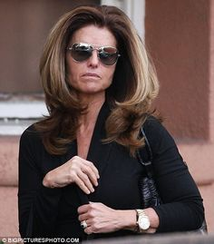 "being a native texas girl, ""big hair"" is beautiful to me and maria shriver looks amazing in my opinion leaving the salon."