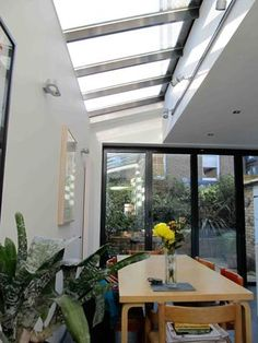 Nice how the bi-folds and glass roof match