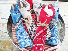 Red, White, and Blue Bandanas - so love this!!