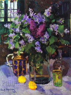 Lilacs. Still Life by Konstantin Korovin