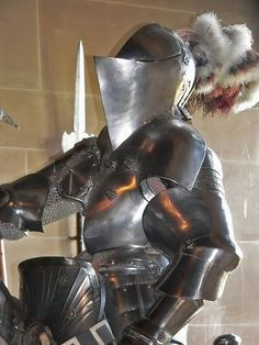 Armored Knight in the Great Hall of Warwick Castle