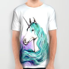 Unicorn All Over Print Shirt