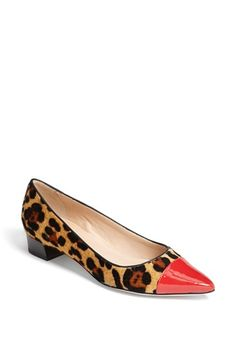Oh la la! Love this colorful, animal print pump.