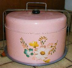 Pink Floral Cake Carrier