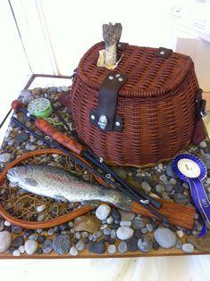 Fly fishing! Best in show winning cake!!! (Birmingham 2013) - by Rose-Maries Cakes & Sugarcraft @ CakesDecor.com - cake decorating website