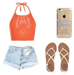 """Cute summer outfit"" by fungiral on Polyvore featuring New Look, Billabong and Agent 18"
