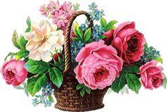Victorian Flower Basket Die Cut