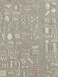 embroidery sampler (closeup) | closeup of stitches. my, some… | Flickr