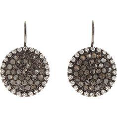 Roberto Marroni Black & White Diamond Sand Earrings ($6,525) ❤ liked on Polyvore