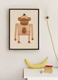 Monkey poster from walnut & walrus