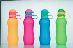 Collapsible Silicone Drink Bottles 700 ml with carabiner by VIV