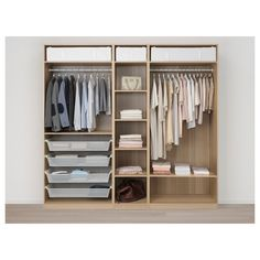 IKEA - PAX Wardrobe white stained oak effect, Meråker dark gray Dressing Pax, Pax Planer, Powder Coating Wheels, Armoire Ikea, Pax System, Soft Closing Hinges, Plastic Shelves, Pax Wardrobe, Lineup
