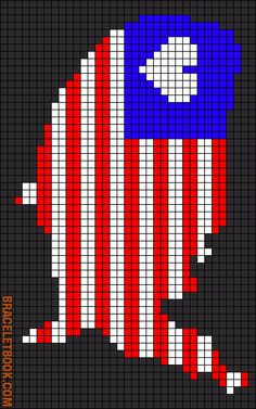 America bead pattern