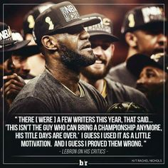 LeBron James & The Cleveland Cavaliers  ... World Champions