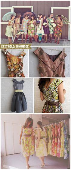 Colorful tea dresses galore!