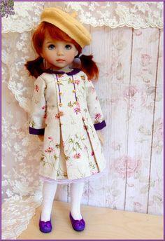 """Le vrai Chic Parisien "" cream Dress for EFFNER Little Darling 13"" Doll #DollClothingAccessories"