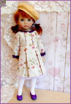 """Le vrai Chic Parisien "" cream Dress for EFFNER Little Darling 13"" Doll #DollClothingAccessories"